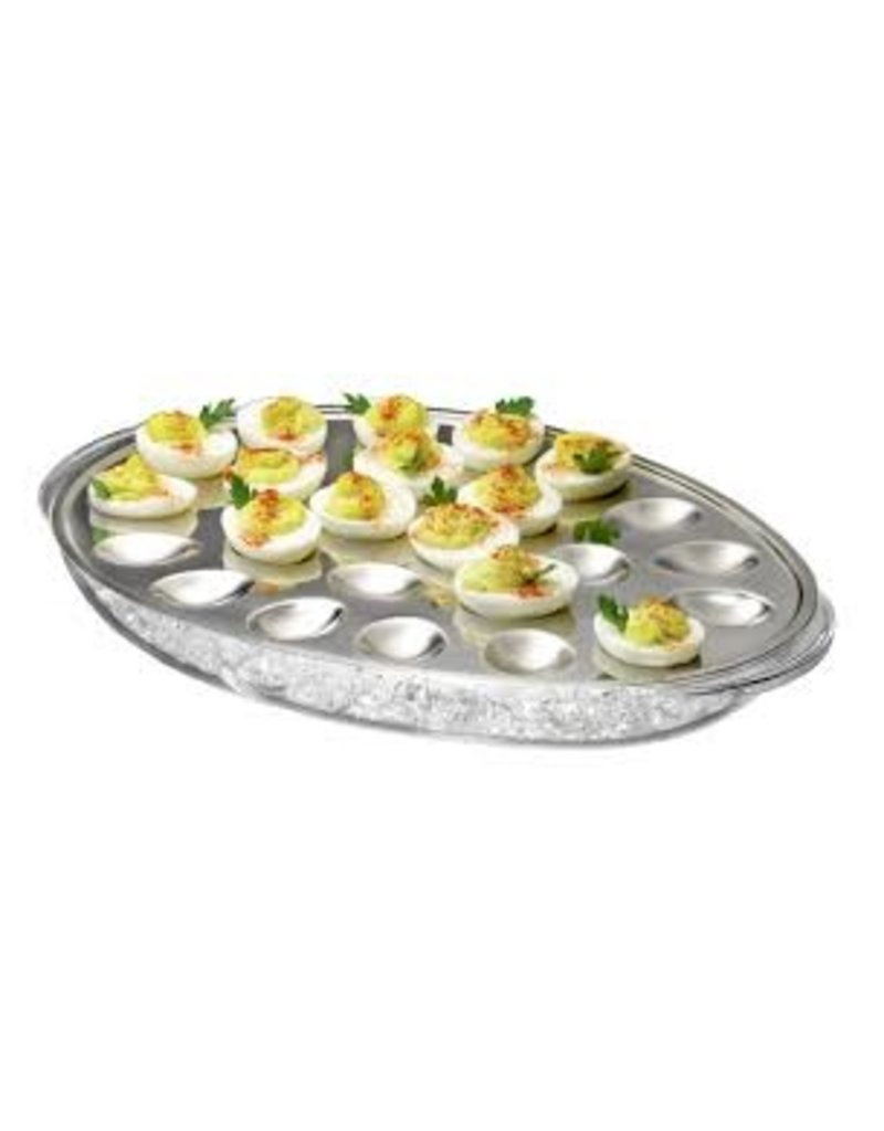 Prodyne Acrylic and Stainless Iced Deviled Eggs disc