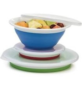 Progressive Thinstore Collapsible Storage Bowls with Lids (Set of 3)