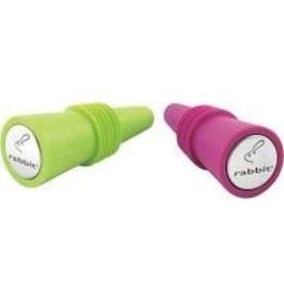 Rabbit Silicone Wine Bottle Stoppers Set of 2/12