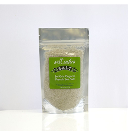 SALT Sisters Sel Gris Organic French Sea Salt, coarse 5oz disc