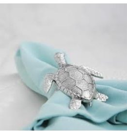 Supreme Housewares Sea Turtle Napkin Rings Set of 4, zinc+stainless
