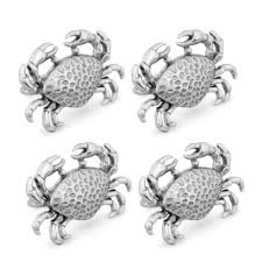 Supreme Housewares Crab Napkin Ring, Set of 4, zinc+stainless