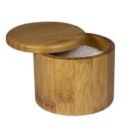 Totally Bamboo Bamboo Round Salt Box cir