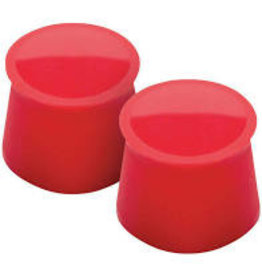 Tovolo Silicone Wine Caps Set of 2, Red