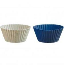 Trudeau Trudeau Silicone Mini Muffin Cups Set of 24, gray/blue