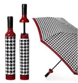 Vinrella Wine Bottle Umbrella - Houndstooth-black