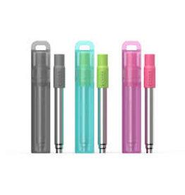 Zoku Collapsible Reusable Pocket Straw, SINGLE