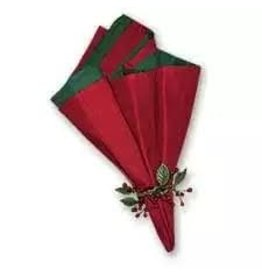 C and F Home Holiday Napkin Red/Green Reversible