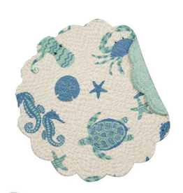 C and F Home Placemat Brisbane, Round Reversible