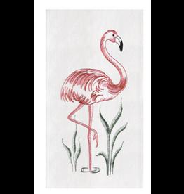 C and F Home Towel Flamingo, floursack