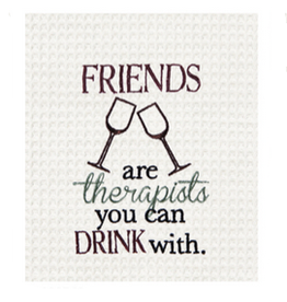 C and F Home Towel Friends Therapist, waffle weave