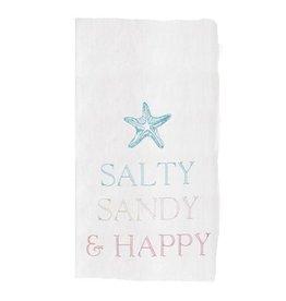 C and F Home Towel Sandy & Happy, floursack