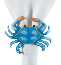 C and F Home Napkin Ring Blue Crab