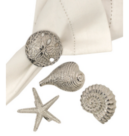 C and F Home Shell Napkin Ring, Single