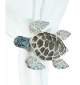 C and F Home Napkin Ring Wooden Sea Turtle