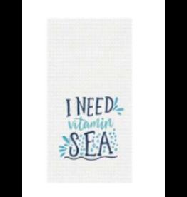 C and F Home Towel Vitamin Sea, waffle weave