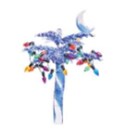 C and F Home Ornament Blue Palmetto w Lights