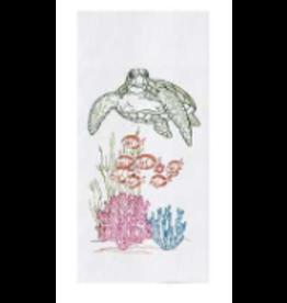 C and F Home Towel Ocean Life Sea Turtle, floursack