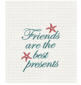 C and F Home Towel Friends Best Presents-Starfish, waffle weave