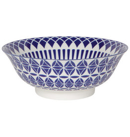 """Now Designs Stamped Bowl 8"""" Blue Geo disc"""