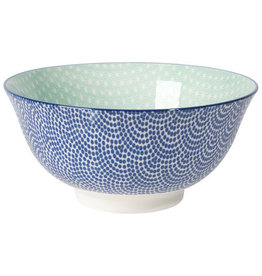 "Now Designs Stamped Bowl 6"" Blue Waves"