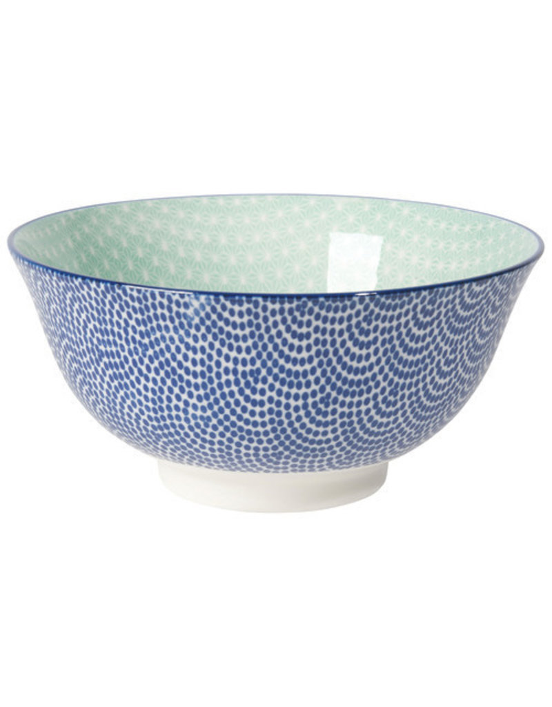 """Now Designs Stamped Bowl 6"""" Blue Waves"""