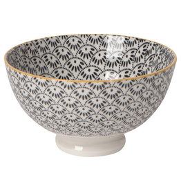 """Now Designs Stamped Bowl 4"""" Gray Dotted Scallop"""