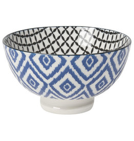 "Now Designs Stamped Bowl 4"" Blue Diamond"
