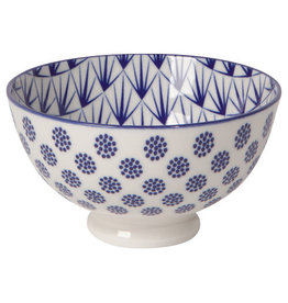 "Now Designs Stamped Bowl 4"" Blue Dots"