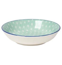 "Now Designs Stamped Dipper Bowl Aqua, 3.75"""