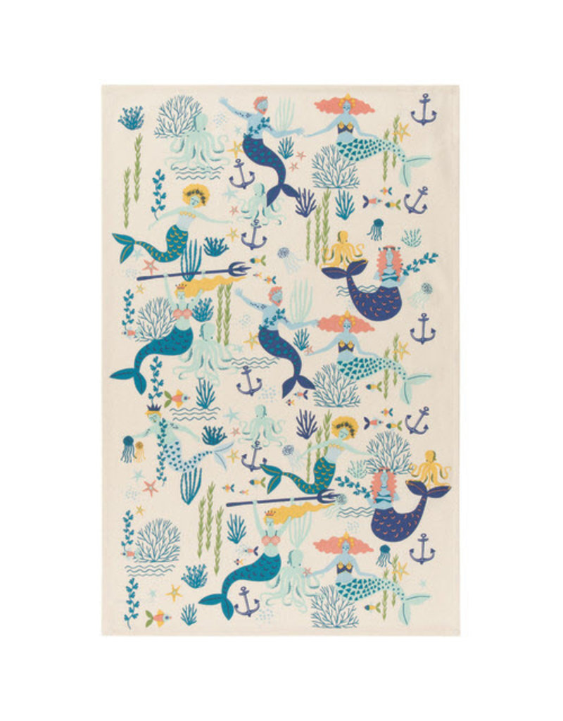 Now Designs Dish towel Mermaids Set of 2
