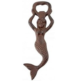 Mermaid Bottle Opener, Rust