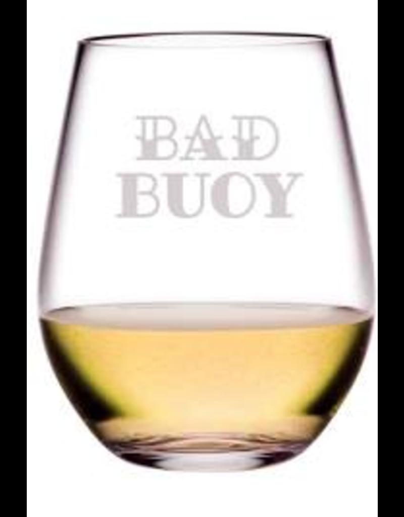 Bad Buoy Stemless Glass Wine, 21oz, SINGLE