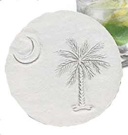 Hand-Crafted Absorbent Ceramic Coaster, SC Palmetto, SINGLE