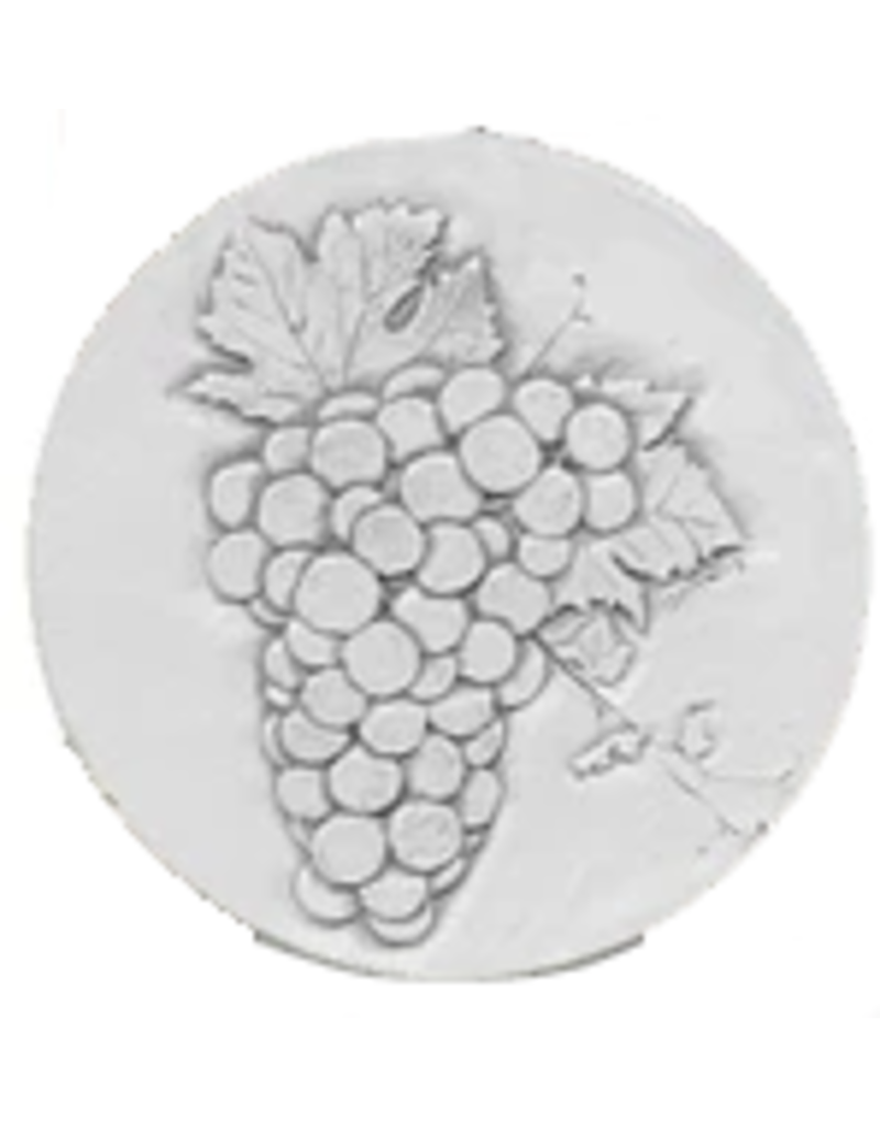 Hand-Crafted Absorbent Ceramic Coaster, Wine Grapes, SINGLE