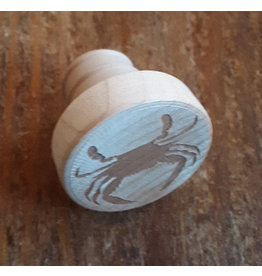 Tangico Wooden WineO Bottle Stopper Engraved Crab
