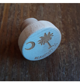 Tangico Wooden WineO Bottle Stopper Custom-Palmetto/Beaufort, SC