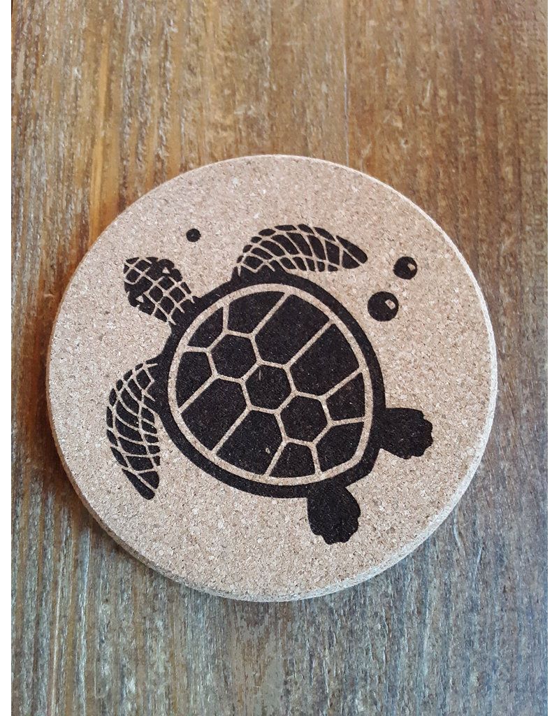 Tangico Cork Coaster Sea Turtle