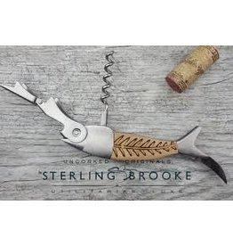 Sterling Brooke Corkscrew Wine Opener Bones