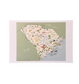 GalleyWare Kitchen Towel, SC Map