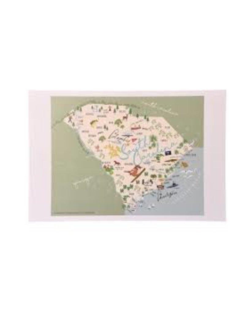 GalleyWare Kitchen Towel, SC Map