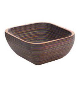 "Island Bamboo/Wilshire Rainbow Pakkawood Square Pinch Bowl, 3.5"""