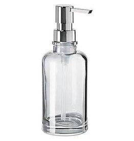 Oggi Round Glass Soap/Lotion Dispenser, Clear (7'' H, 12oz)