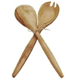 Pacific Merchants Acacia Wood Fork & Spoon Serving Set, 12''