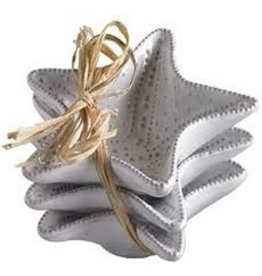 Mudpie Starfish Mini Dip Cups, 3.5'' Set of 3