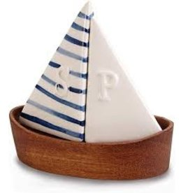 Mudpie Sailboat Salt and Pepper Shaker Set