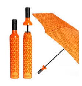 Vinrella Wine Bottle Umbrella - Botanical Orange disc