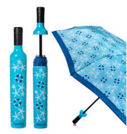 Vinrella Wine Bottle Umbrella - Coastal Days-blue