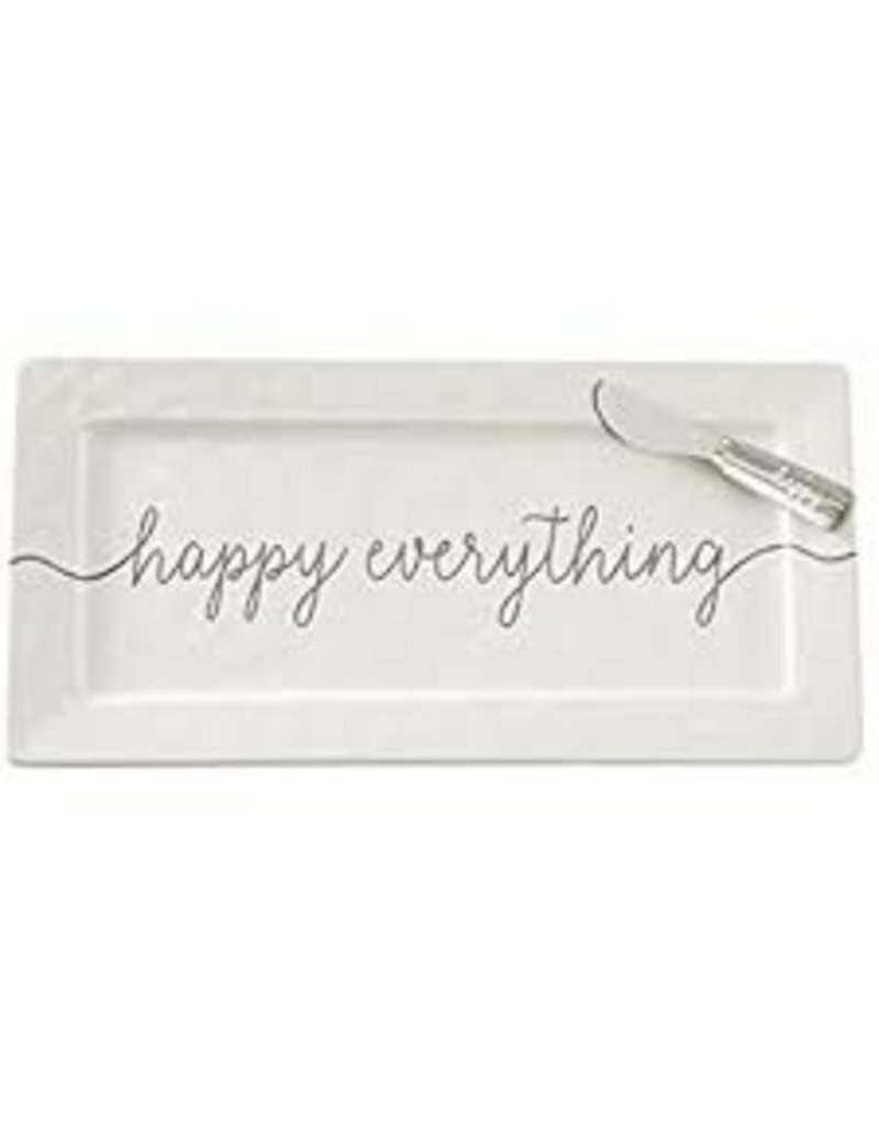 Mudpie Happy Everything Hostess Ceramic Plate and Spreader