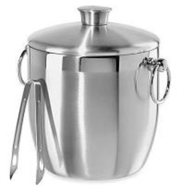 Oggi Stainless Double Wall Ice Bucket with Tongs